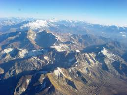 Picture from the Airplane above the Andes - Chile